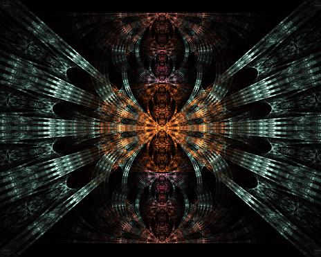 Futuristische Tunnel Van Staal En Metaal Binnenaanzicht Abstracte Futuristische Achtergrond Bedrijfsconcept Stockfoto en meer beelden van Achtergrond - Thema