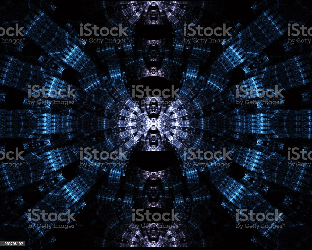 Futuristic tunnel of steel and metal, interior view. Abstract futuristic background, business concept - Royalty-free Advice Stock Photo