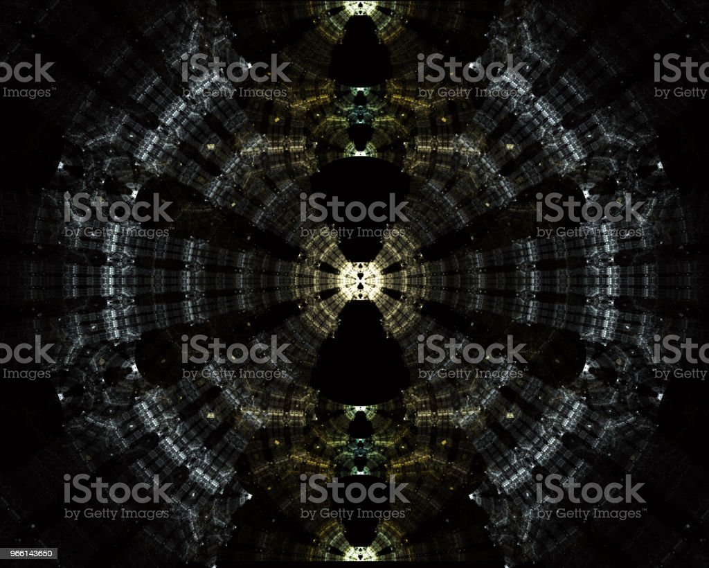 Futuristische Tunnel aus Stahl und Metall, Innenansicht. Abstrakte futuristische Hintergrund, Business-Konzept - Lizenzfrei Autorität Stock-Foto