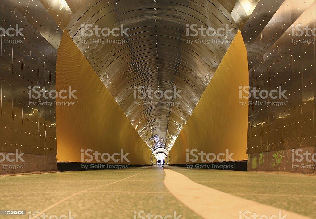 Futuristic Tunnel royalty-free stock photo