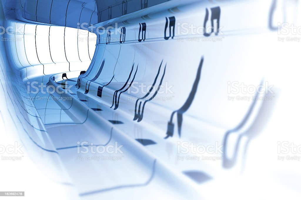 Futuristic Tunnel royalty-free stock photo