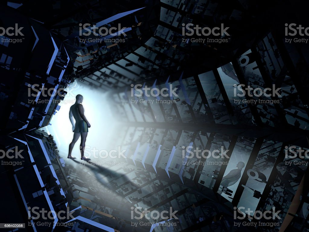 Futuristic Tunnel stock photo