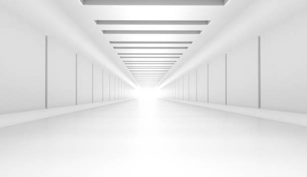 futuristische tunnel - wandspiegel weiß stock-fotos und bilder