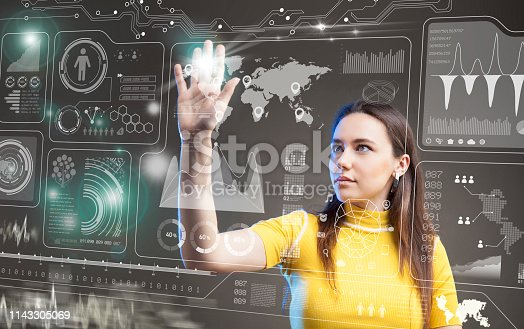 872670540 istock photo Futuristic user interface concept. Graphical User Interface. Head up Display. 1143305069