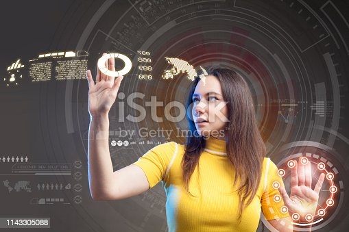 872670540 istock photo Futuristic user interface concept. Graphical User Interface. Head up Display. 1143305088