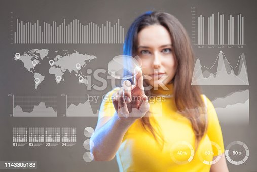 872670540 istock photo Futuristic user interface concept. Graphical User Interface. Head up Display. 1143305183