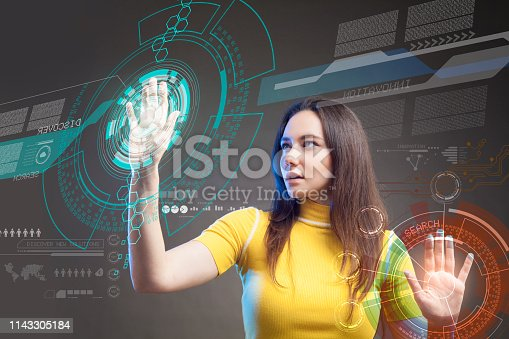 872670540 istock photo Futuristic user interface concept. Graphical User Interface. Head up Display. 1143305184