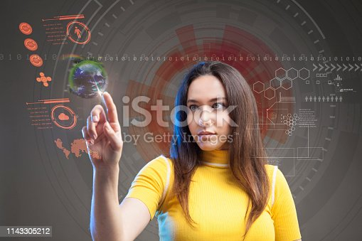 872670540 istock photo Futuristic user interface concept. Graphical User Interface. Head up Display. 1143305212