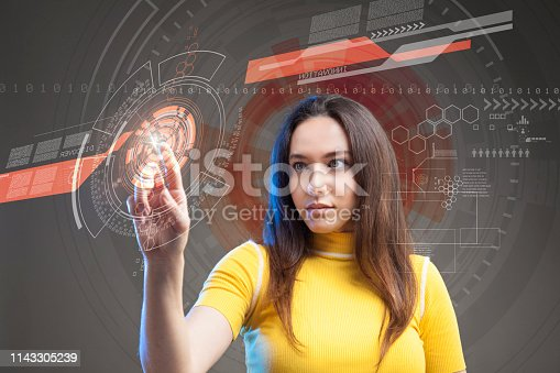 872670540 istock photo Futuristic user interface concept. Graphical User Interface. Head up Display. 1143305239