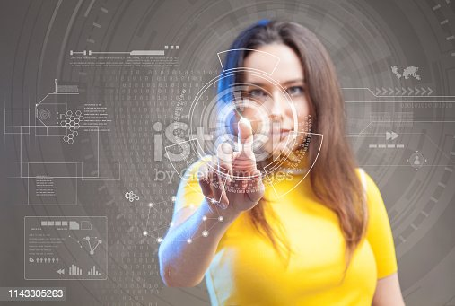 872670540 istock photo Futuristic user interface concept. Graphical User Interface. Head up Display. 1143305263