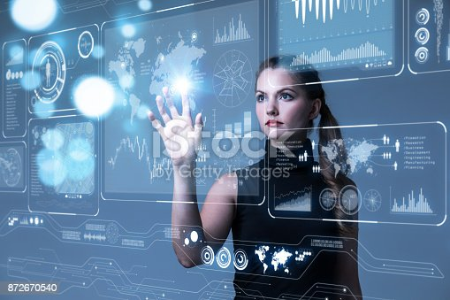872670540 istock photo Futuristic user interface concept. Graphical User Interface(GUI). Head up Display(HUD). Internet of things. 872670540