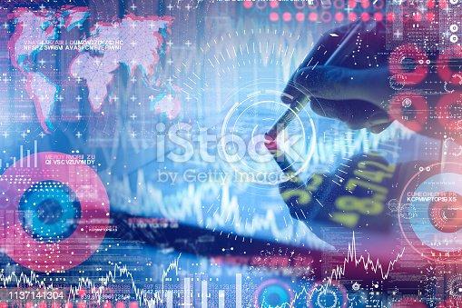 641839870 istock photo Futuristic user interface concept 1137141304