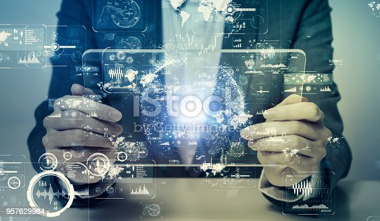 1154261912 istock photo Futuristic user interface concept. 957629984