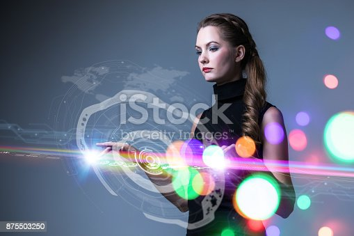 693586040istockphoto Futuristic user interface. 875503250