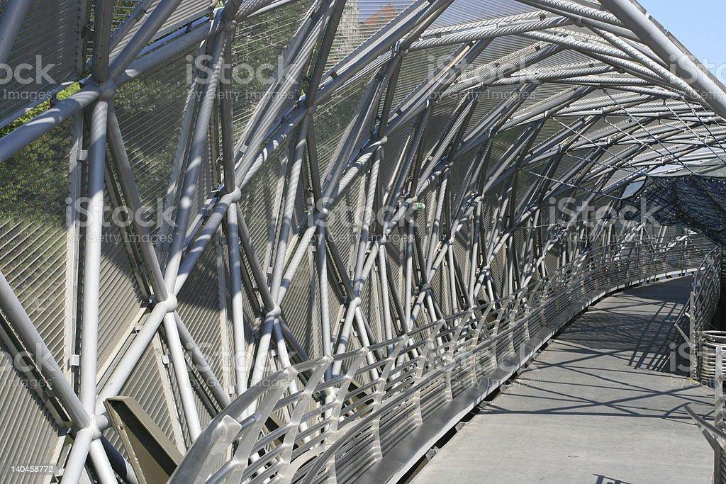 Futuristic walkway royalty-free stock photo