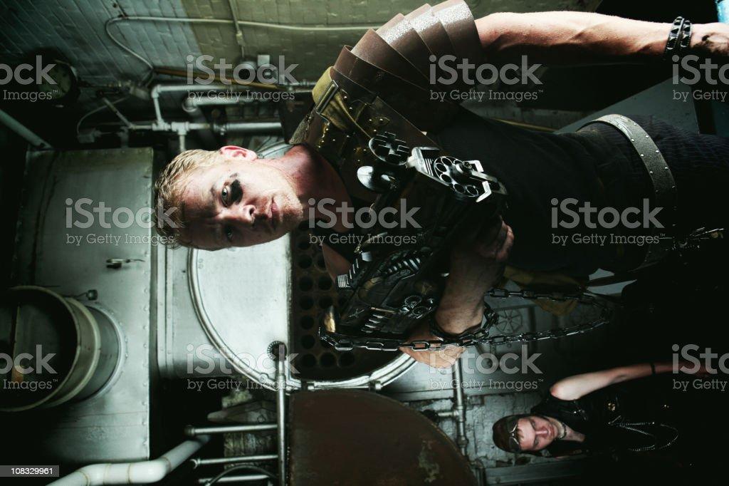 futuristic warriors royalty-free stock photo