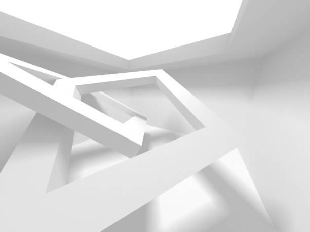 Futuristisches Background für weiße Architektur – Foto