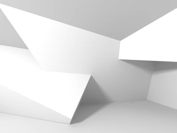 Futuristische Architektur, die weißen Design-Hintergrund – Foto