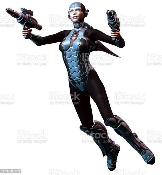 Futuristic woman warrior armed with two heavy weapons 3d illustration picture id1139937169?b=1&k=6&m=1139937169&s=612x612&h=goebakbas76s ye2pzpkx2qypwnzbqmhaqqka9mx v0=