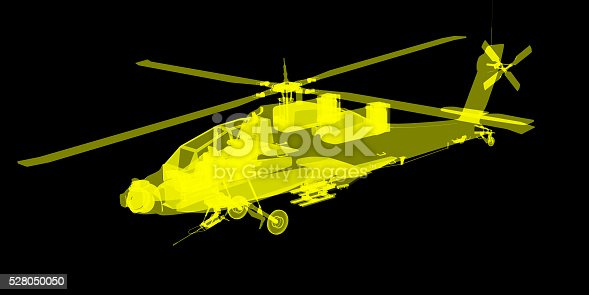 istock futuristic x-ray image of attack helicopter 528050050