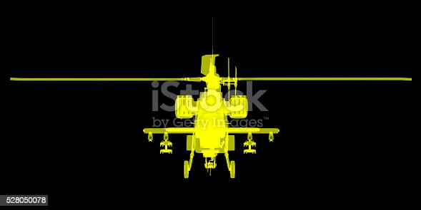 istock futuristic x-ray image of attack helicopter 528050078