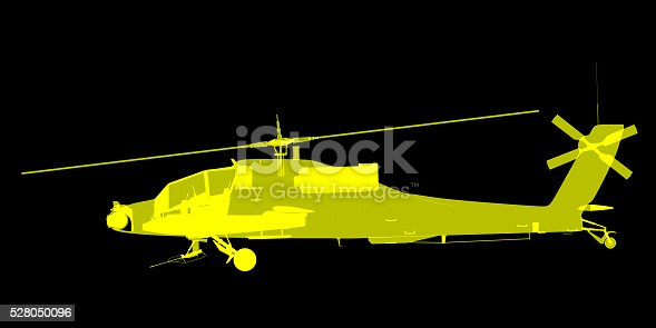 istock futuristic x-ray image of attack helicopter 528050096