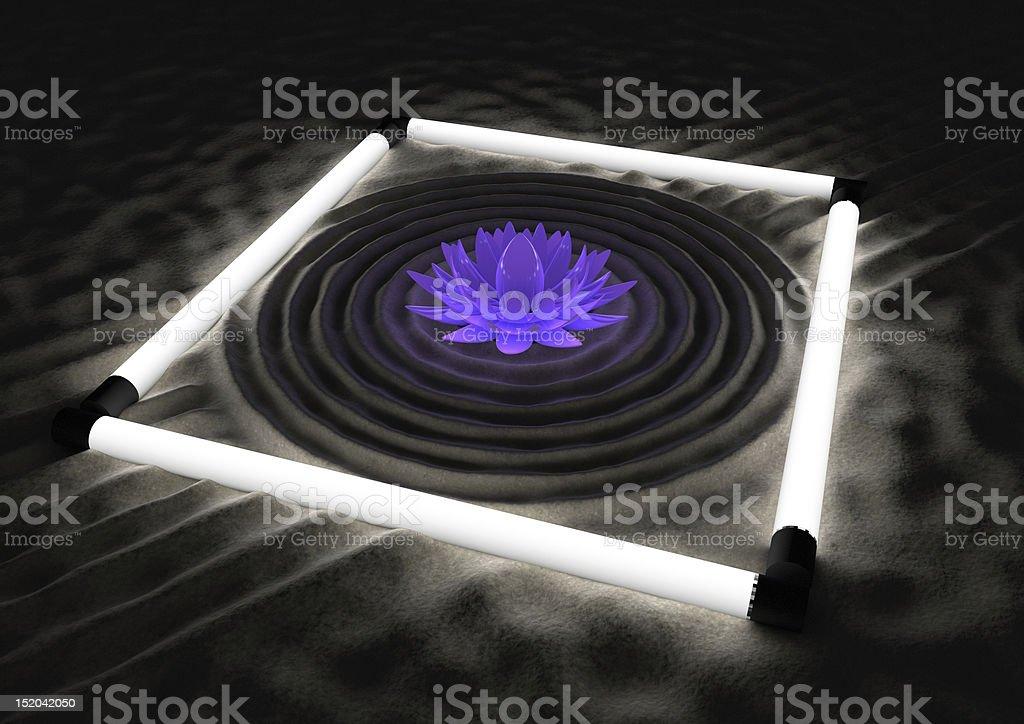 Futuristische zen-Garten – Foto