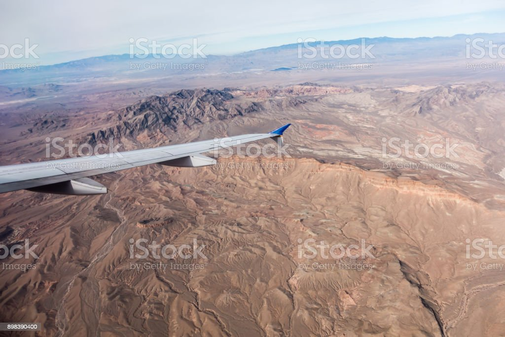 Fviews Of Valley Of Fire Before Landing In Las Vegas Stock Photo Download Image Now