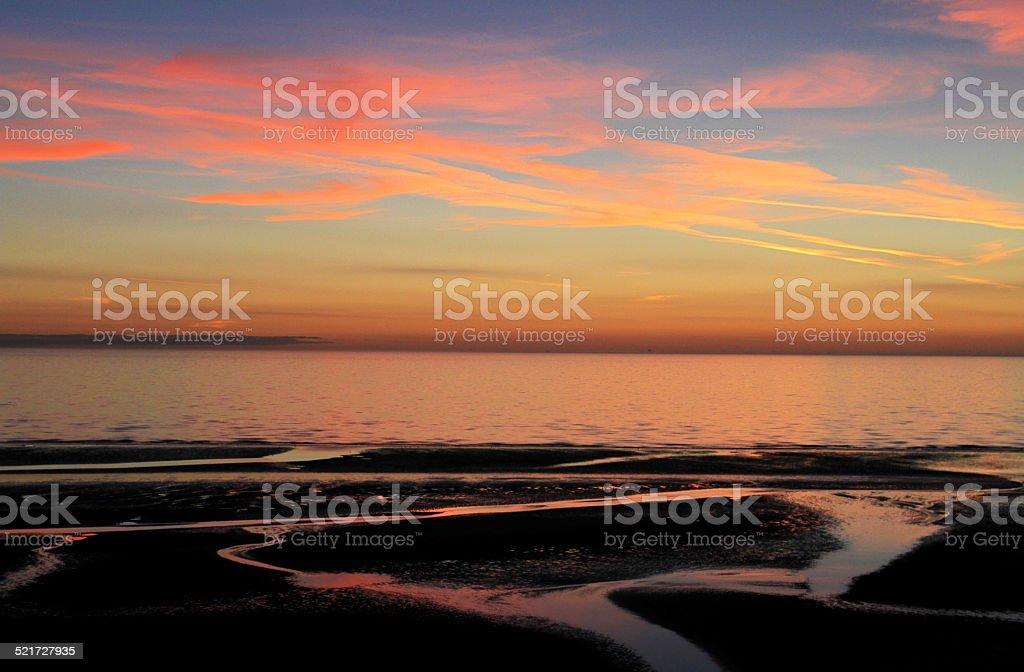 Fylde Coast Sunset stock photo
