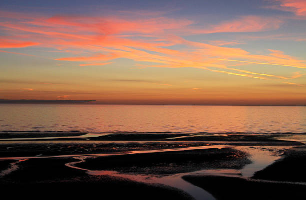 Fylde Coast Sunset stock photo