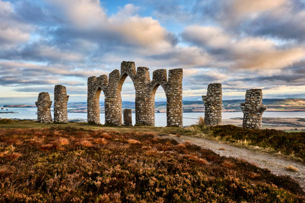 Fynish Folly, Alness, Easter Ross, Scotland stock photo