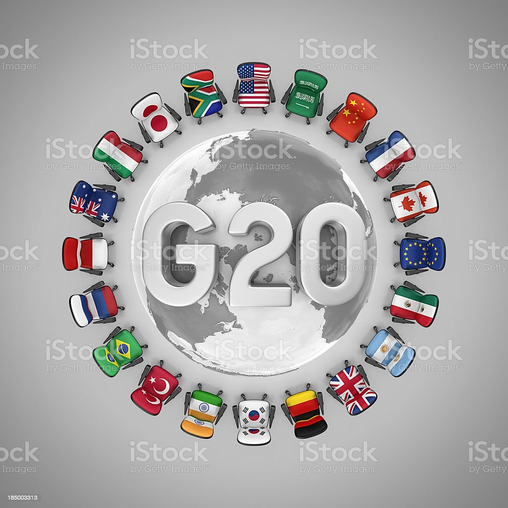 g20 royalty-free stock photo