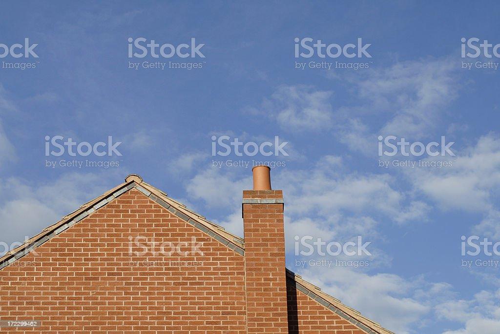 Gable end of Modern House stock photo