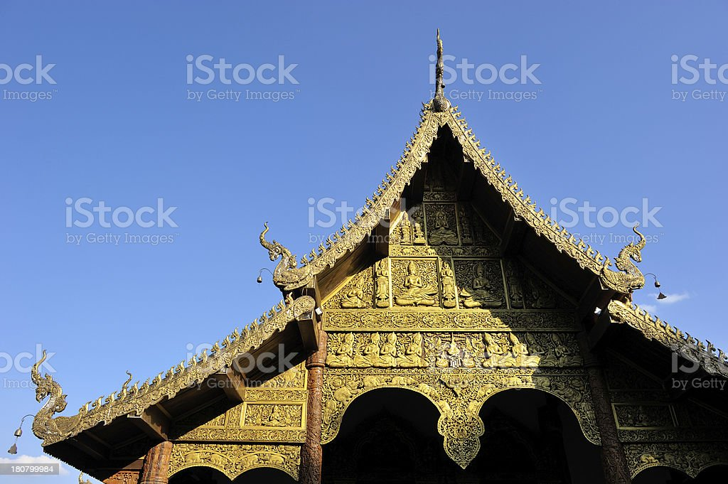 Gable of the church. royalty-free stock photo