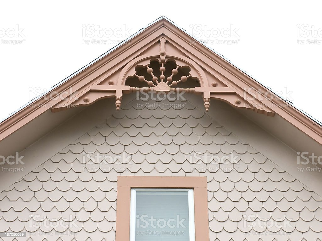 Gable  of Victorian Home stock photo