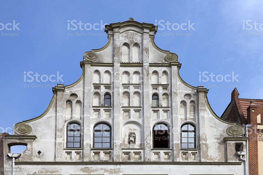 Gable royalty-free stock photo