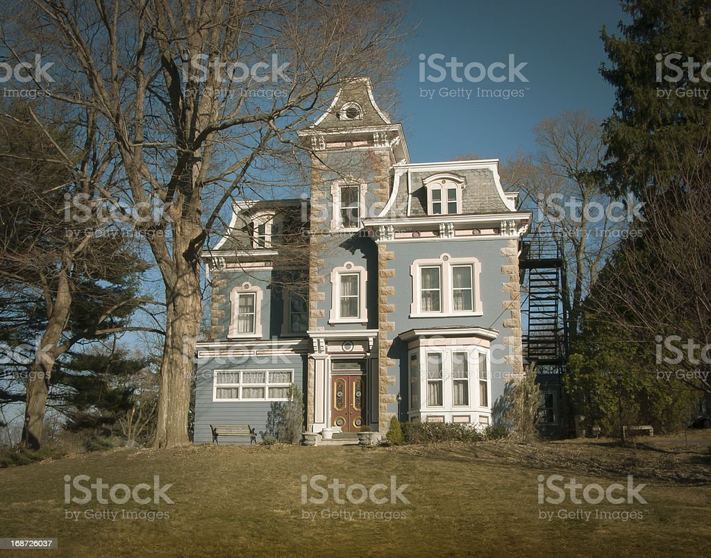 Gabled Mansion stock photo
