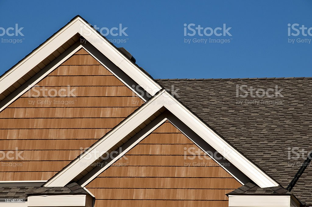 Gables and Roof line stock photo