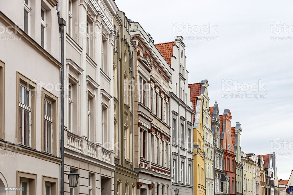 Gables in Stralsund royalty-free stock photo