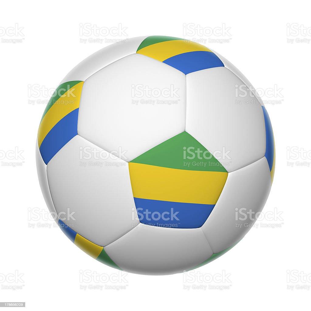 Gabon soccer ball royalty-free stock photo