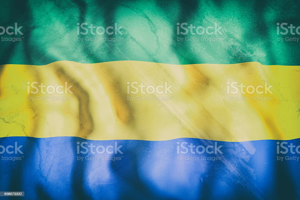 Gabonese republic flag waving stock photo istock gabonese republic flag waving royalty free stock photo sciox Gallery