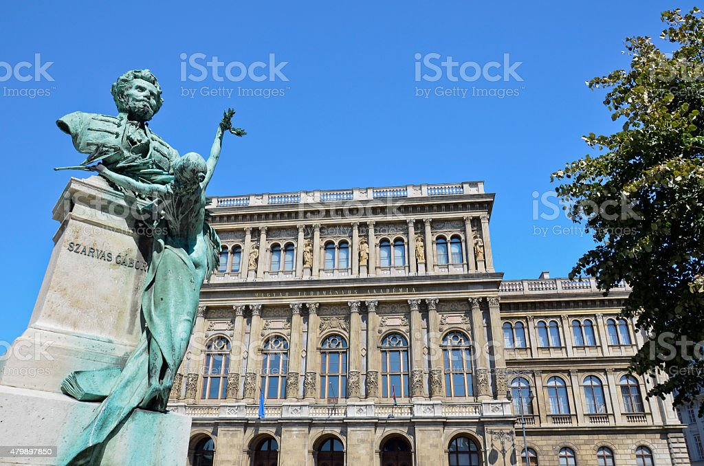 Gabor Szarvas and the Academy of Science, Budapest. 2 stock photo