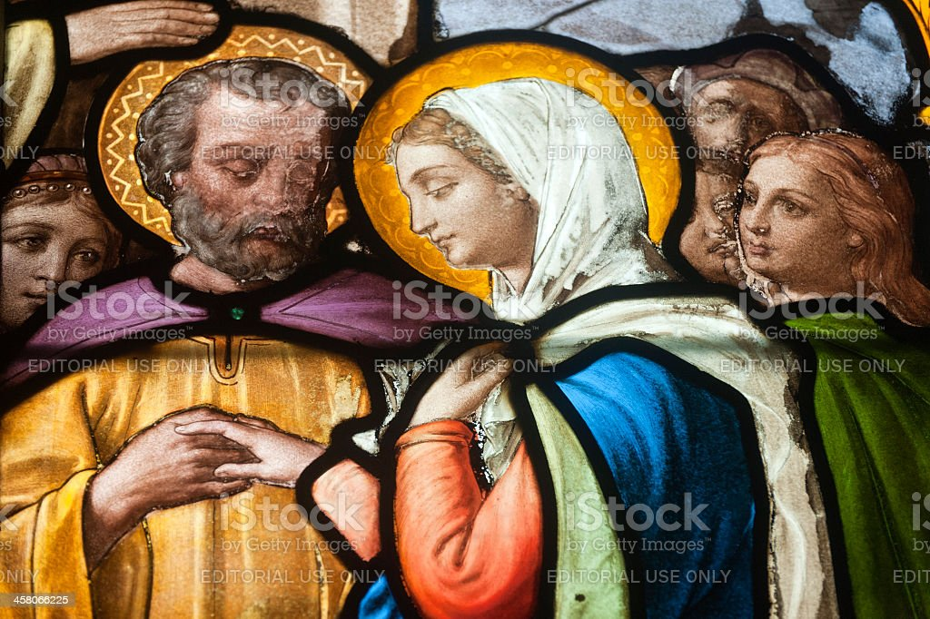 Gace - Stained glass stock photo