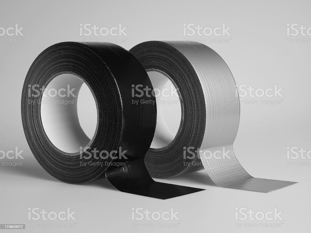 Gaffer Tapes On White stock photo