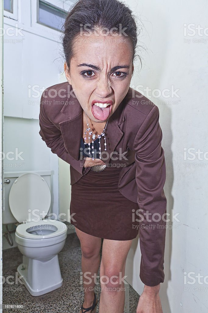 Gag Me royalty-free stock photo
