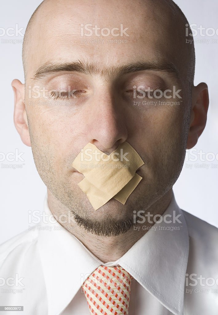 Gagged Man royalty-free stock photo