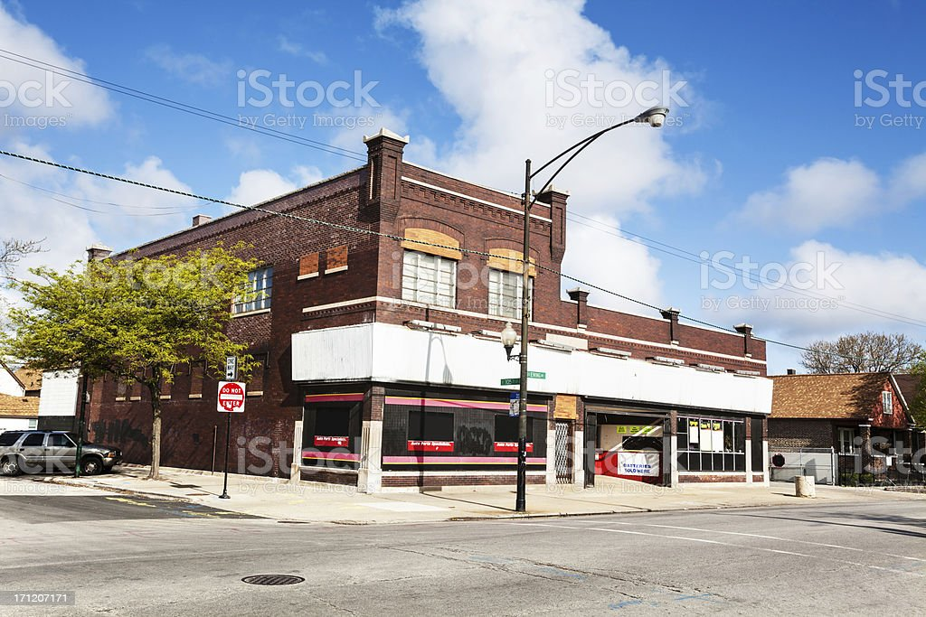 Gahelbing building in East Side, Chicago royalty-free stock photo
