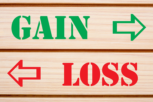 istock Gain And Loss Concept 1080389318