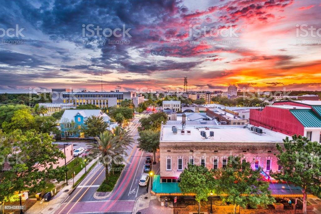Gainesville, Florida, USA Skyline royalty-free stock photo