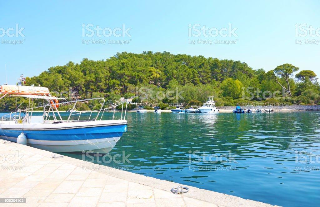 Paisagem de Gaios Grécia ilha de Paxos - foto de acervo